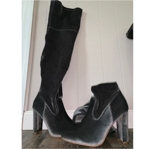 Heeled over the knee boot